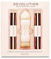 MAKEUP REVOLUTION - CREME HIGHLIGHT AND CONTOUR KIT - MEDIUM