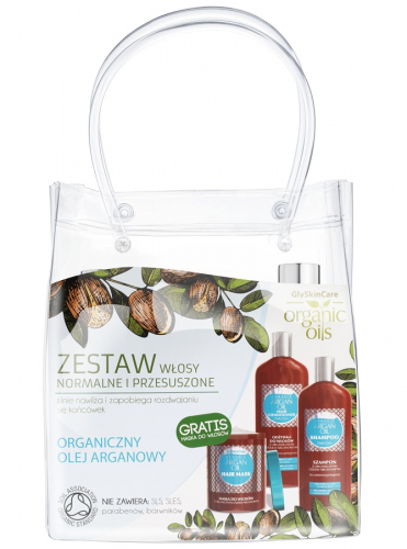 GlySkinCare - An organic set for normal and dry hair - Shampoo, conditioner + mask