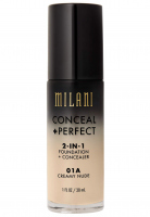 MILANI - CONCEAL + PERFECT - 2-IN-1 FOUNDATION + CONCEALER  - 01A - CREAMY NUDE - 01A - CREAMY NUDE