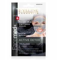 EVELINE - Facemed + - ACTIVE DETOX - Mask with active carbon