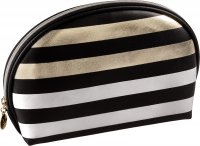 Inter-Vion - Metallic Line Makeup Bag - Large semicircular - 415464