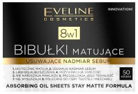 Eveline Cosmetics - Absorbing Oil Sheets Stay Matte Formula 8in1 - 50 pieces