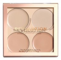 MAKEUP REVOLUTION - Matte Base Concealer Kit - Face concealer palette - C1-C4