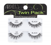 ARDELL - 120 DEMI BLACK TWIN PACK - A set of 2 pairs of false eyelashes on a stripe