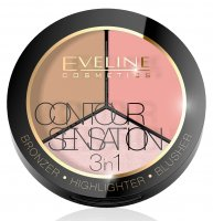 EVELINE - CONTOUR SENSATION 3in1 - Face contour palette
