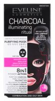 EVELINE - CHARCOAL ILLUMINATING RITUAL - A deeply purifying Korean fabric mask