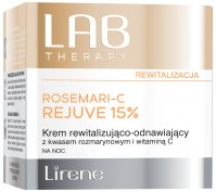 Lirene - LAB THERAPY - ROSEMARI-C REJUVE 15% - Revitalizing and renewing cream with rosemary acid and vitamin C for the night