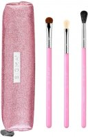 Sigma - PASSIONATELY PINK BRUSH SET - A set of 3 makeup brushes + cosmetic bag