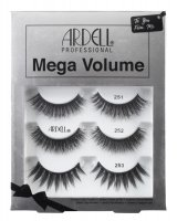 ARDELL - Mega Volume 3 Pack - A set of 3 pairs of false eyelashes on the strip