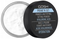 GOSH - Prime'n set PRIMER & MATTIFYING SETTING POWDER - Fixing-matting powder/base with the addition of hyaluronic acid 3in1