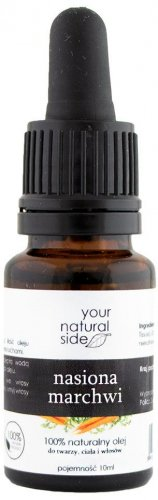 Your Natural Side - 100% Natural Carrot Seed Oil - 10 ml