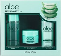 Holika Holika - Aloe Soothing Essence - Skin Care Special Kit - Set of cosmetics for dry and irritated skin