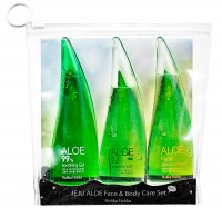 Holika Holika - JEJU ALOE - Face & Body Care Set - A set of 3 mini cosmetics with aloe