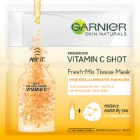 GARNIER - SKIN NATURALS - Fresh-Mix Tissue Mask - Illuminating mask on a tissues with vitamin C