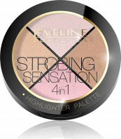 EVELINE - STROBING SENSATION 4in1 - HIGHLIGHTER PALETTE - Palette of 4 highlighters