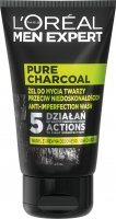 L'Oréal - MEN EXPERT - PURE CHARCOAL - Face wash gel against imperfections for men