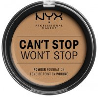 NYX Professional Makeup - CAN'T STOP WON'T STOP POWDER FOUNDATION - Powdered face foundation - 15 - CARAMEL