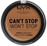 NYX Professional Makeup - CAN'T STOP WON'T STOP POWDER FOUNDATION - Powdered face foundation - 16 - MAHOGANY