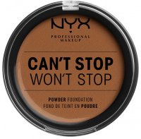 NYX Professional Makeup - CAN'T STOP WON'T STOP POWDER FOUNDATION - Powdered face foundation - 17 - CAPPUCCINO