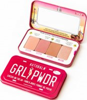 THE BALM - AUTOBALM - GRL PWDR - CHEEKS ON THE GO - Palette of 4 face blushes