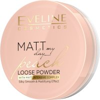 EVELINE - Matt My Day - Peach Loose Powder - Loose matte powder with a peach scent