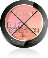 Eveline Cosmetics - BLUSH SENSATION 4IN1 - BLUSHER PALETTE - 4 blushes for the face