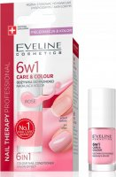 Eveline Cosmetics - NAIL THERAPY PROFESSIONAL- 6 in1 Color Nail Conditioner - 5 ml - Rose