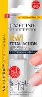 Eveline Cosmetics - NAIL THERAPY PROFESSIONAL - TOTAL ACTION - SILVER SHINE - Concentrated nail conditioner with silver particles