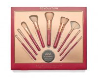 MAKEUP REVOLUTION - BRUSH COLLECTION - Set of 9 make-up brushes + soap - PINCEAUX