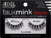 ARDELL - FAUX MINK - Luxuriously Lightweight with invisiband - Artificial strip eyelashes - WISPIES - WISPIES