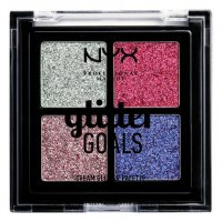NYX Professional Makeup - Glitter Goals Cream Glitter Palette - Palette of 4 glitter eyeshadows - 03 LOVE ON TOP