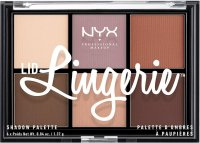 NYX Professional Makeup - LID LINGERIE SHADOW PALETTE - Palette of 6 eye shadows