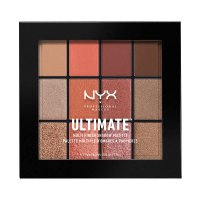 NYX Professional Makeup - ULTIMATE MULTI FINISH SHADOW PALETTE - 12 eyeshadows - 08 WARM RUST