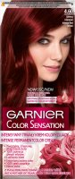 GARNIER - COLOR SENSATION - Permanent hair color cream - 4.60 Intense Red Brown