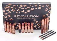 MAKEUP REVOLUTION - LIP REVOLUTION NUDES - Set of cosmetics for lip makeup - NUDE