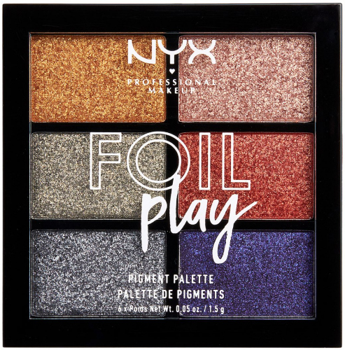 NYX Professional Makeup - FOIL PLAY PIGMENT PALETTE - Palette of 6 cream face and body pigments - 01 MAGNETIC PULL