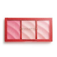 MAKEUP REVOLUTION - PRECIOUS STONE - HIGHLIGHTER - Palette of 3 highlighters - RUBY CRUSH