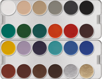 KRYOLAN - AQUACOLOR Make up Palette - A palette of 24 water based face paints - ART. 1108