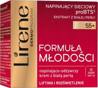 Lirene - Youth Formula - Tightening and nourishing face cream with white pearl - 55+ Day - SPF15 - 50 ml