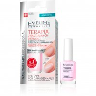 Eveline Cosmetics - NAIL THERAPY PROFESSIONAL - Intensive strengthening and rebuilding treatment for damaged nails - 12 ml