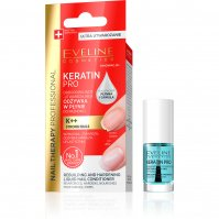 EVELINE - NAIL THERAPY PROFESSIONAL - KERATIN PRO - Rebuilding-hardening liquid nail conditioner - 5 ml