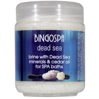 BINGOSPA - Bath brine with Dead Sea minerals and cedar oil - 550g