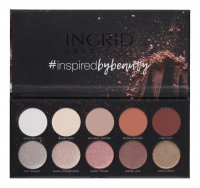 INGRID - MATT AND GLAM PALETTE - 10 eyeshadows - NUDE