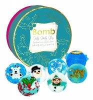 Bomb Cosmetics - Jolly Holly Day - Gift Pack - Gift set with natural bath cosmetics