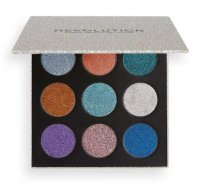 MAKEUP REVOLUTION - PRESSED GLITTER PALETTE - Palette of 9 pressed glitters - ILLUSION