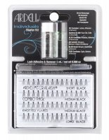 ARDELL - Individuals Starter Kit - Knotted Flares - set of tufts + tweezers, glue and remover