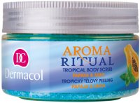 Dermacol - AROMA RITUAL - TROPICAL BODY SCRUB - PAPAYA & MINT - Body scrub with papaya and mint scent