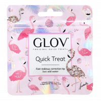 GLOV - QUICK TREAT Flamingo Edition - Blue - Mini make-up removal glove - Blue