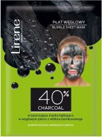 Lirene - BUBBLE SHEET MASK - Cleansing, bubble mask on a bamboo sheet with the addition of charcoal