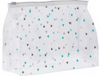 Inter-Vion - Transparent cosmetic bag in triangles - Large